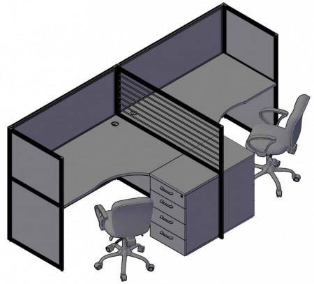 RAND рабочая станция повышенной комфортности для 2-х сотрудников