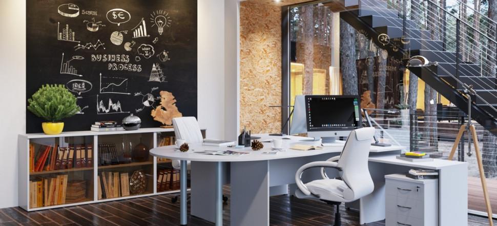 IMAGO белоснежный кабинет для двоих сотрудников