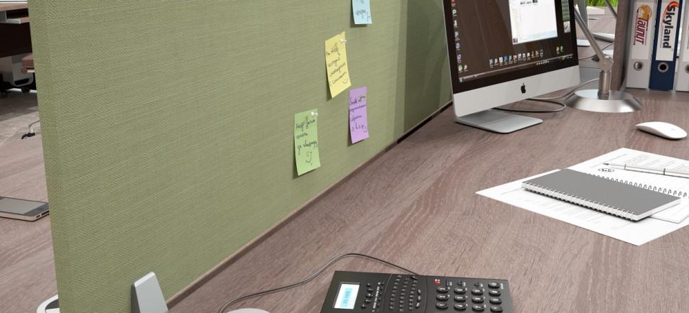XTEN экран между двойными столами зеленый